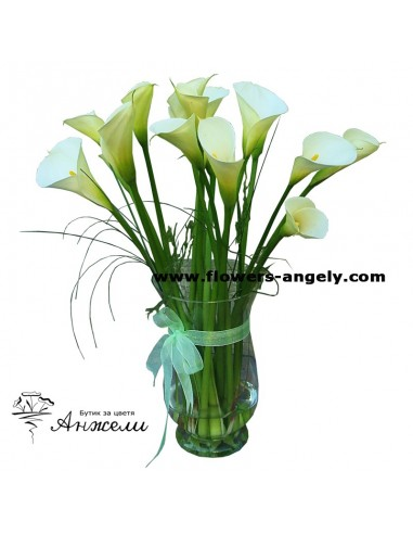 Бели кали във ваза