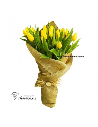 Букет от жълти лалета